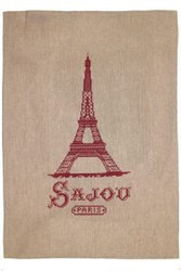 Sajou French Linen Tea Towels - Eiffel Tower Style