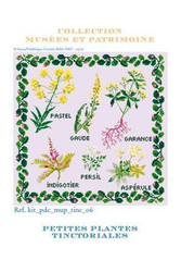Cross Stitch Kit of Tinctorial Plants - Small Version