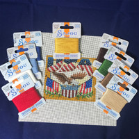 USA Needlepoint Kit with Retors du Nord Threads