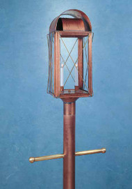 Paul Revere Crossbar Post Mount Lantern Large