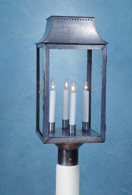 Federalist Era Mansard Post Mounted Lantern - Large