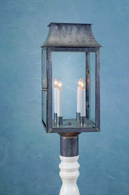 Federalist Mansard Post Mount Lantern Large