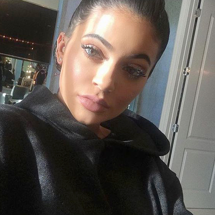 Kylie Jenner Wears Her Solotica Color Contact Lenses On