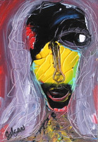 Black & Yellow Woman --SOLD