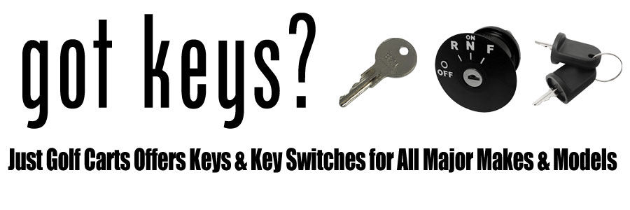Great Selection of Golf Cart Keys and Key Switches