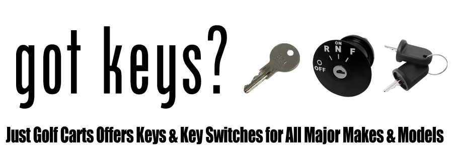 Golf Cart Keys and Key Switches