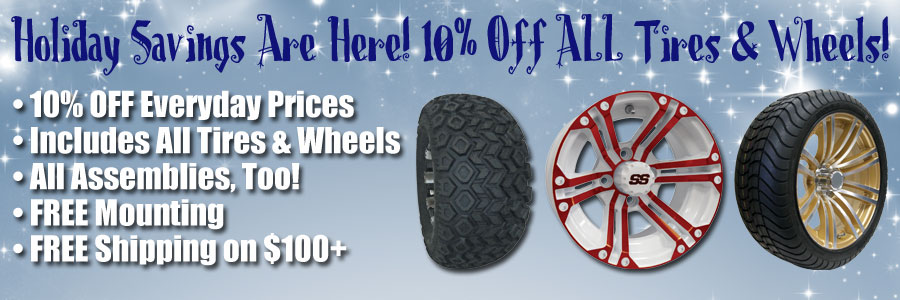Save 10% on ALL Tires and Wheels Thru 2017!