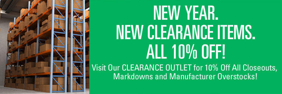 10% Off All Clearance Outlet Items!