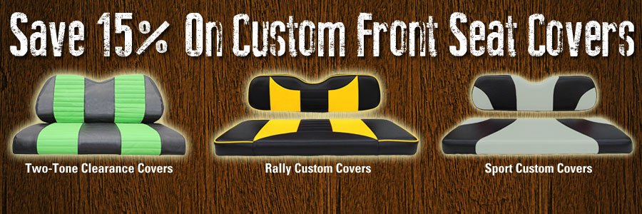 Save 15% On Custom front Seat Covers
