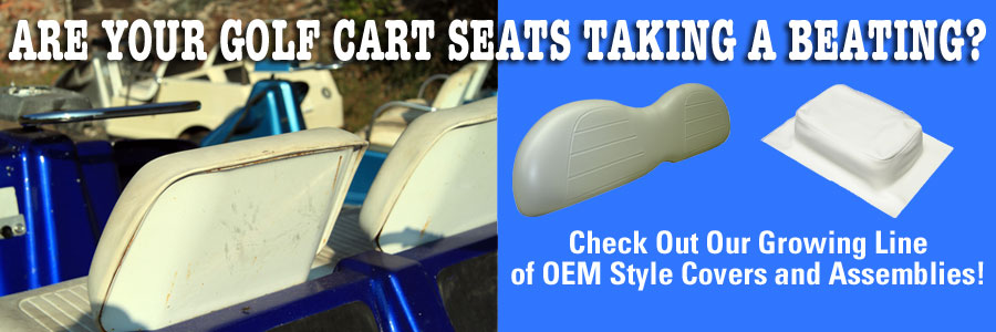 Are Your Golf Cart Seats Taking a Beating?