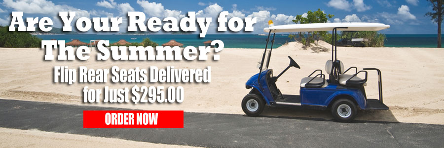 Golf Cart Rear Seats Delivered for $295