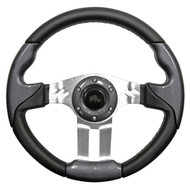 "Aviator 5 Steering Wheel, Carbon Fiber/Brushed Aluminum, 13"" Diameter"