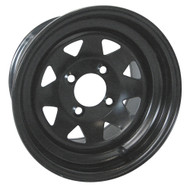 "RHOX 8 Spoke Black 12"" Steel Wheel"