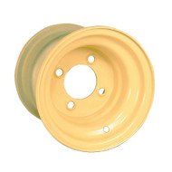 "8"" Steel Beige Golf Cart Wheel, Standard"