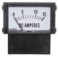 15A Ammeter, Rectangular Gauge