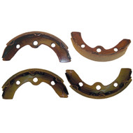 Golf Cart Brake Shoes (Set of 4), 2 Short, 2 Long, Club Car DS 95+ and Precedent