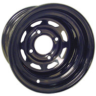 10x7 Steel Offset Golf Cart Wheel, Black 8 Window