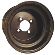 10x8 Steel Offset Golf Cart Wheel, Black