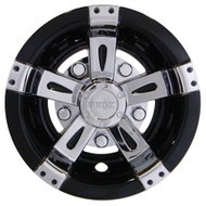 "10"" RHOX Vegas Chrome with Black Wheel Cover"