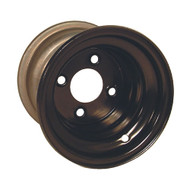 "8"" Steel Black Golf Cart Wheel with Offset"