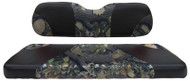 Custom Golf Cart Seat Covers, Black and Camo