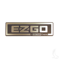 Golf Cart Replacement Emblem, Black & Silver, EZGO TXT 96-13