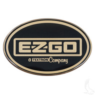 Golf Cart Replacement Emblem, Gold, EZGO Workhorse