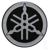 Golf Cart Replacement Emblem, Black & Silver, Yamaha Drive
