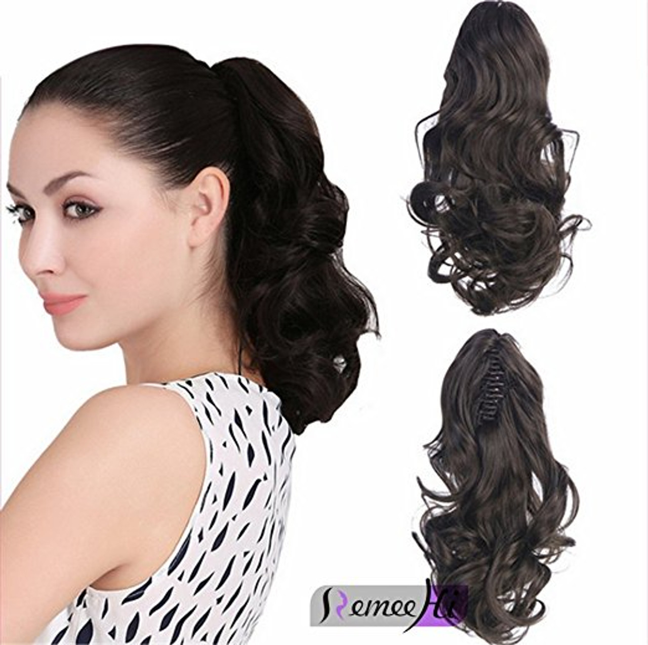 Body wave real human hair ponytails hairpiece claw clip ponytail body wave real human hair ponytails hairpiece claw clip ponytail hair extensions pmusecretfo Choice Image