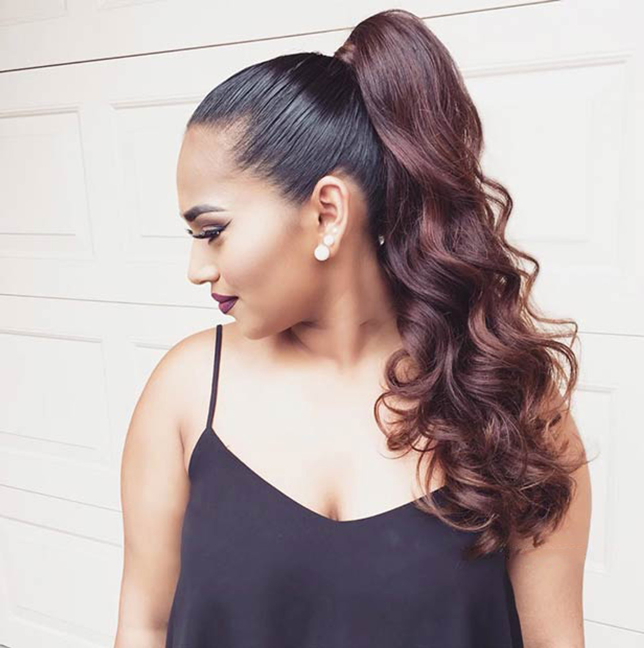 Remeehi straight remy human hair clip ponytails 100g human hair image custom ponytail remy human hair clip in ponytails 100g human hair extensions pmusecretfo Image collections