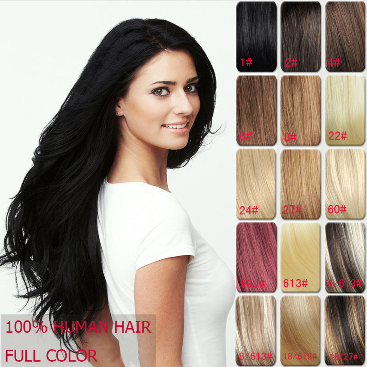 Piece 5 clip in remy human hair extensions super thick straight one piece 5 clip in remy human hair extensions super thick straight 20inch 120g 27cm width pmusecretfo Images
