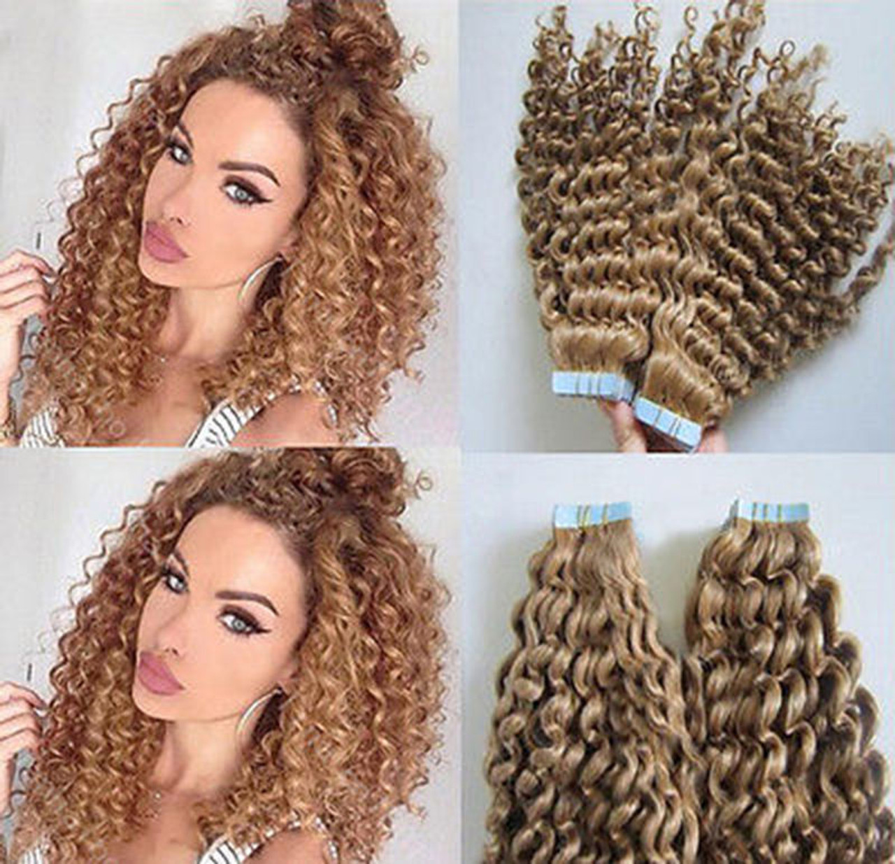 Deep curly remy tape in human hair extensions 20pcs 3gpc remeehi deep curly remy tape in human hair extensions 20pcs 3gpc pmusecretfo Gallery