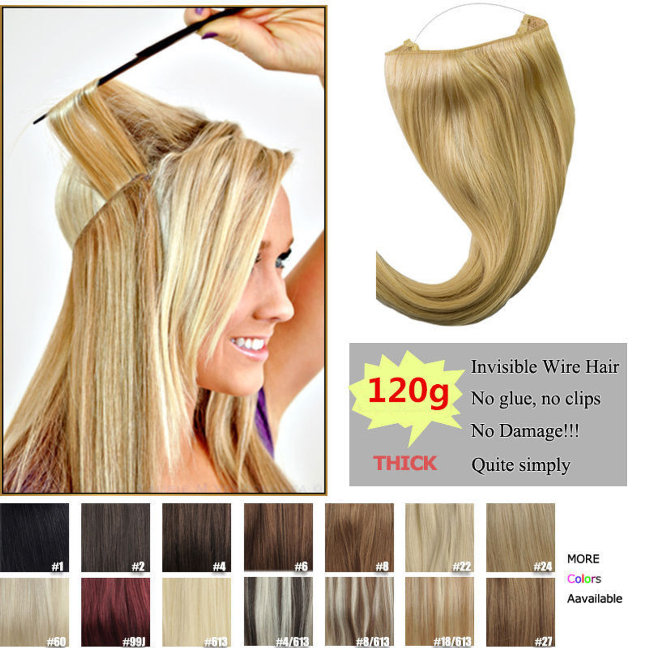 120g thick human remy secret invisible wire secret halo hair remeehi 120g thick human remy secret invisible wire secret halo hair extension any color 28cm pmusecretfo Gallery