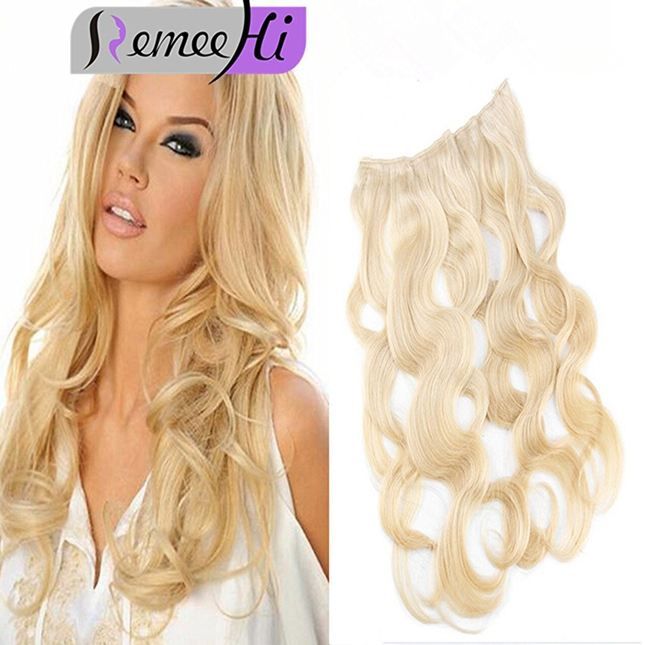 Remeehi body wave secret halo hair extensions invisible wire flip remeehi body wave secret halo hair extensions invisible wire flip remy human hair extensions 80g width pmusecretfo Choice Image