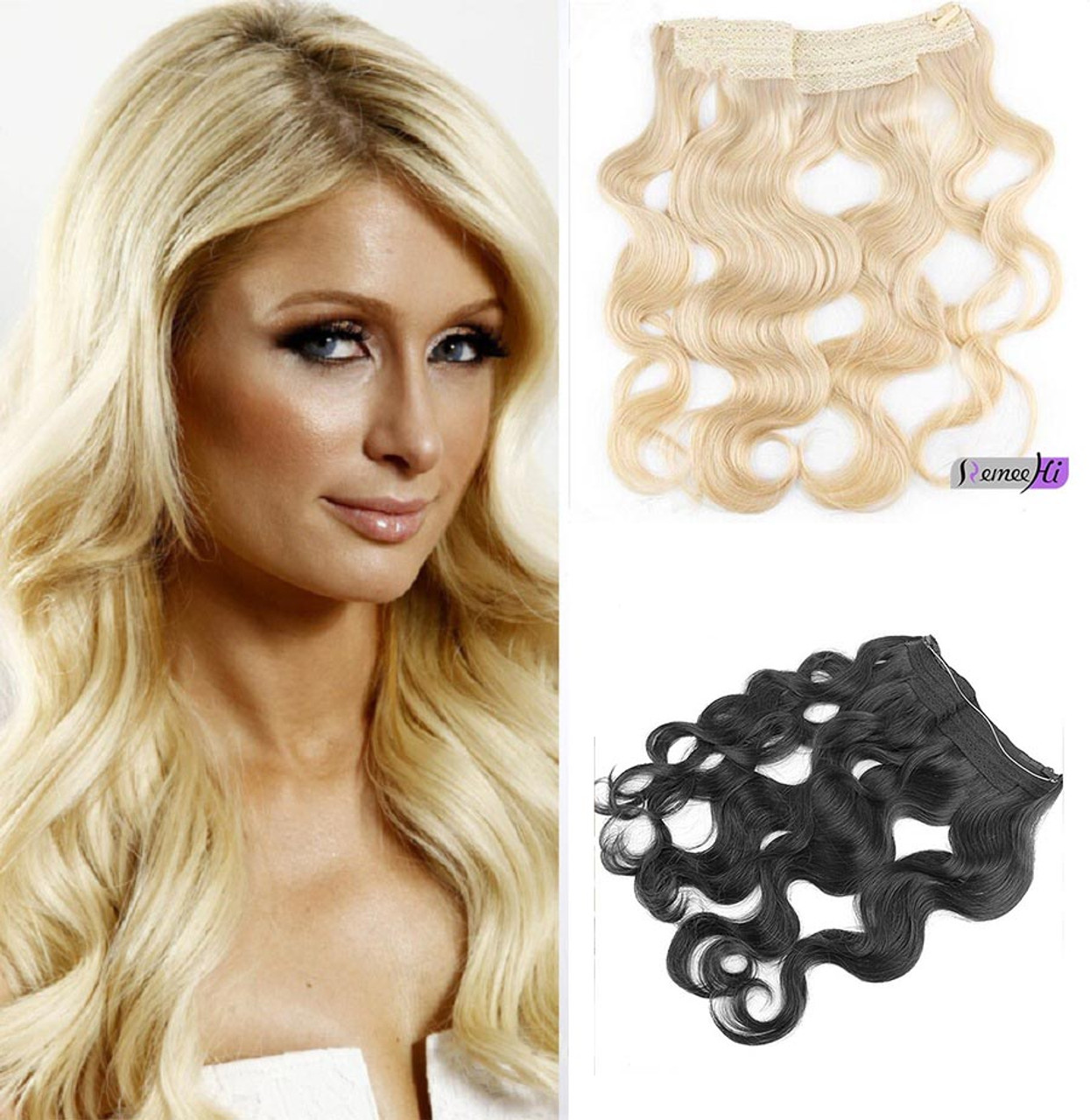 16 30 hidden halo body wave invisible wire one piece secret remeehi 16 30 hidden halo body wave invisible wire one piece secret human hair extensions 120g 28cm pmusecretfo Images