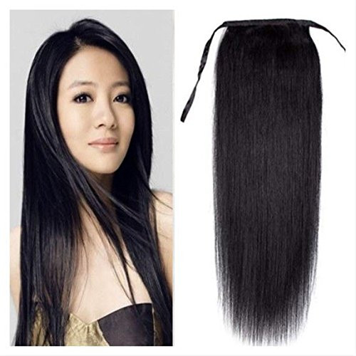 Remeehi straight clip in ponytails remy human hair 100g human hair remeehi silky straight high ponytail clip in indian remy human hair extensions 100g pmusecretfo Images