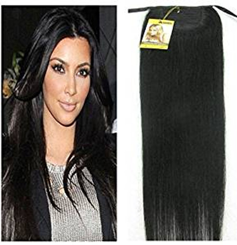 Remeehi straight remy human hair clip ponytails 120g human hair remeehi silky straight high ponytail clip in indian remy human hair extensions 120g pmusecretfo Gallery