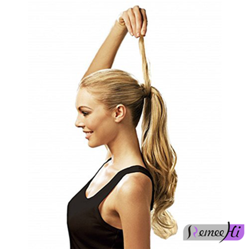 Remeehi body wave real human hair ponytails hairpiece clip remeehi body wave real human hair ponytails hairpiece clip ponytail hair extensions 100g 25 color pmusecretfo Gallery