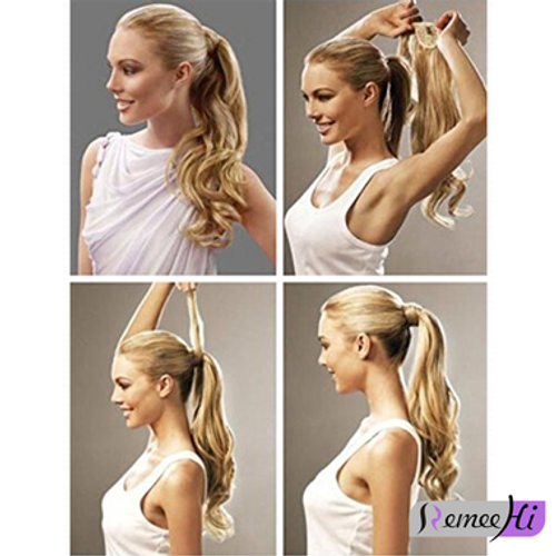 Remeehi body wave real human hair ponytails hairpiece clip remeehi body wave real human hair ponytails hairpiece clip ponytail hair extensions 100g 25 color pmusecretfo Choice Image