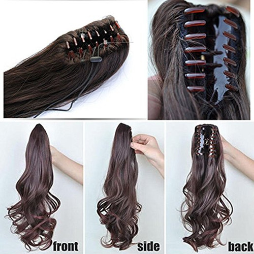 Body wave real human hair ponytails hairpiece claw clip ponytail body wave real human hair ponytails hairpiece claw clip ponytail hair extensions pmusecretfo Image collections