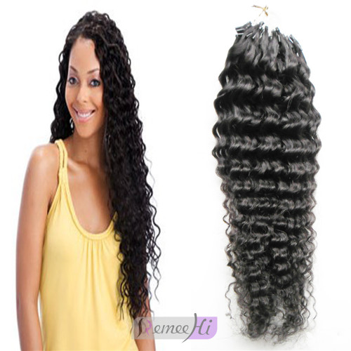 Remeehi 100s micro loop ring beads tipped remy human hair remeehi deep curly 100s micro loop ring beads tipped 100 remy human hair extensions 70g pmusecretfo Choice Image