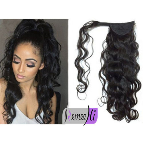 Remeehi straight remy human hair clip ponytails 100g human hair remeehi curly wave remy human hair clip in ponytails 100g human hair extensions pmusecretfo Image collections
