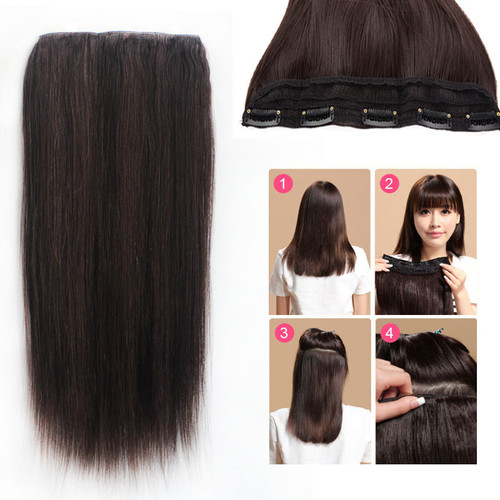 One piece 5 clip in remy human hair extensions super thick one piece 5 clip in remy human hair extensions super thick straight 24inch 120g 22 color pmusecretfo Images