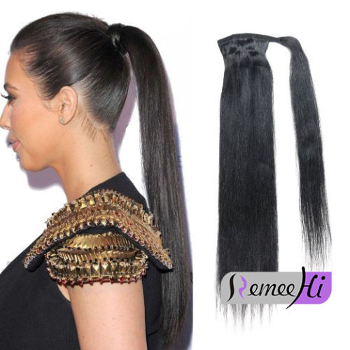 Straight clip in ponytails remy human hair 100g human hair extensions remeehi straight clip in ponytails remy human hair 100g human hair extensions pmusecretfo Choice Image
