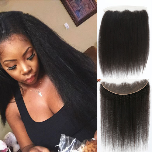 Remeehi Lace Frontal Closures 13x4 Ear To Ear Kinky
