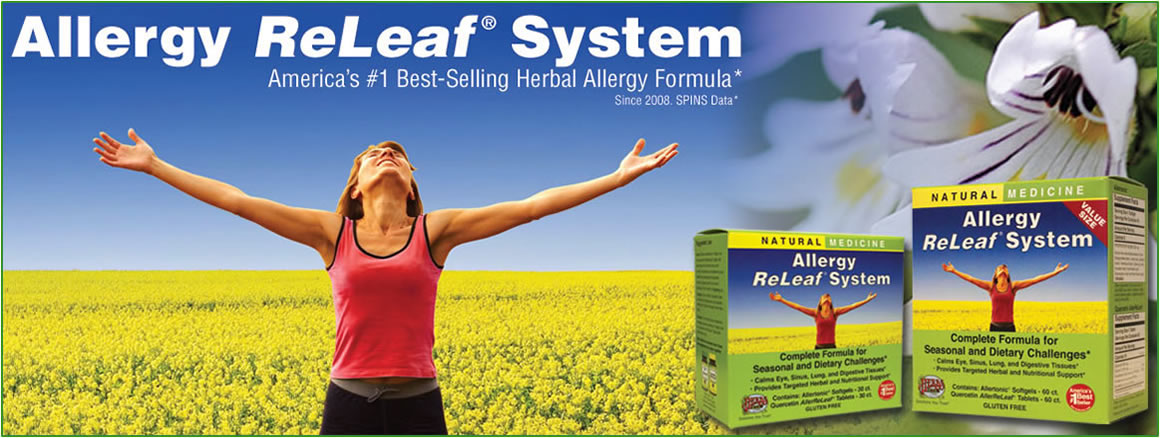 Allergy Releaf® System Advanced, synergistic nutritional and herbal formulas deliver essential benefits and ongoing soothing comfort. Maintains a healthy allergen response in the respiratory and digestive system.