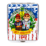 """Cheech & Chong Deluxe Cigarette Case  - 100mm """"USA Weed"""""""