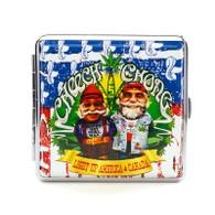 """Cheech & Chong Deluxe Cigarette Case - 85 mm """"USA"""""""