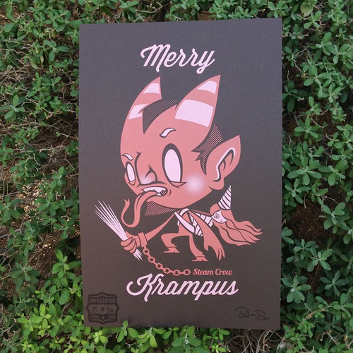 Merry Krampus Screenprint