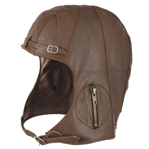 Leather Pilot Cap